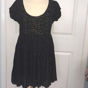 Free people olive and black dress.